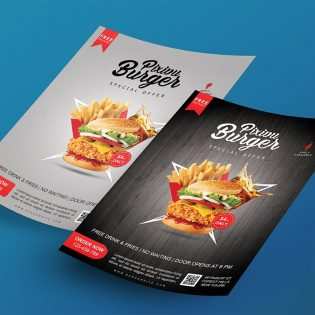 Floating Flyer Mockup Free PSD
