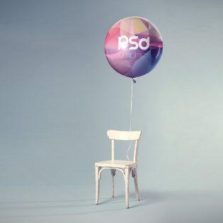 Free Balloon Mockup PSD