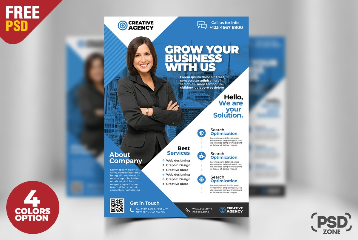 Free business flyer psd template download download psd for Free business flyer templates