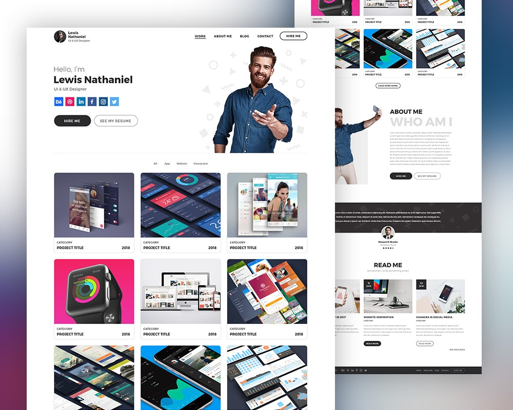 Graphic Designer Portfolio Website Template Psd Download  Download Psd