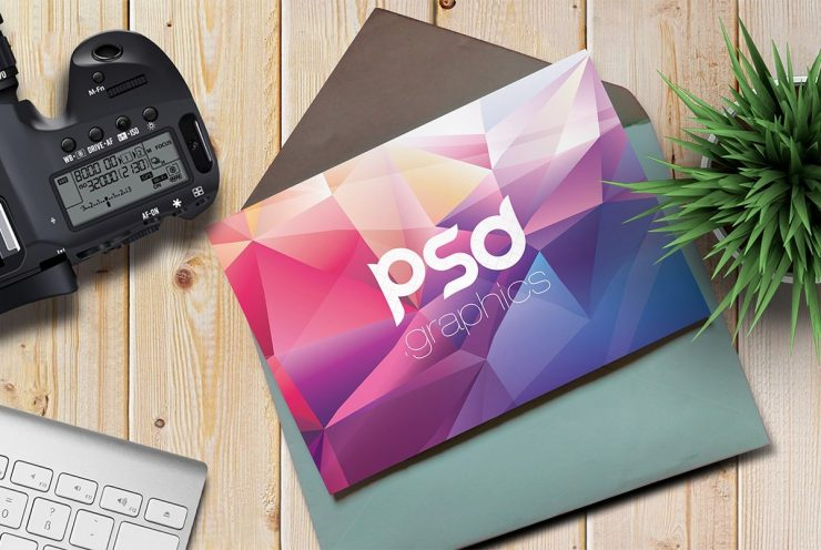Greeting Card Mockup Template PSD