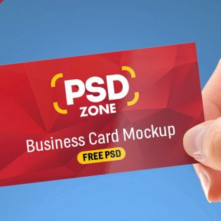 Holding Business Card in Hand Mockup