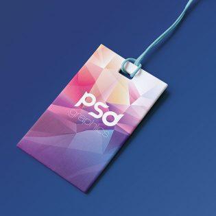 Label Tag Branding Mockup PSD