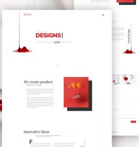 Minimalist Agency Landing Page Template PSD