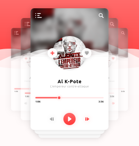 Mobile Music Player App UI PSD