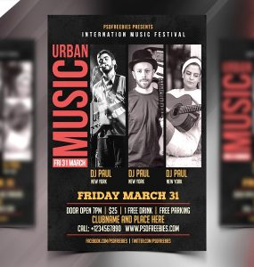 Music Event Flyer Template PSD