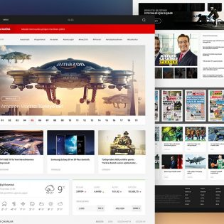 News Portal Website Template Free PSD