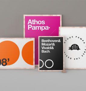 Poster Frames Mockup PSD