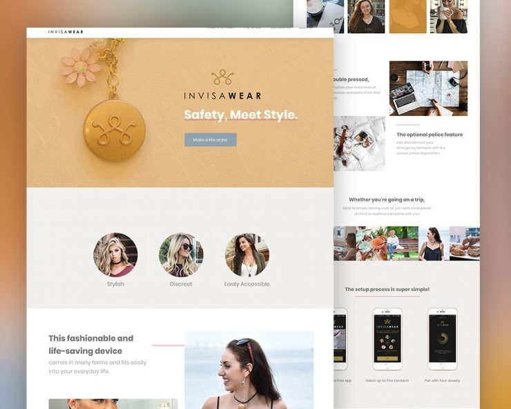 Product Landing Page PSD Template