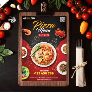 Restaurant Food Menu Template PSD