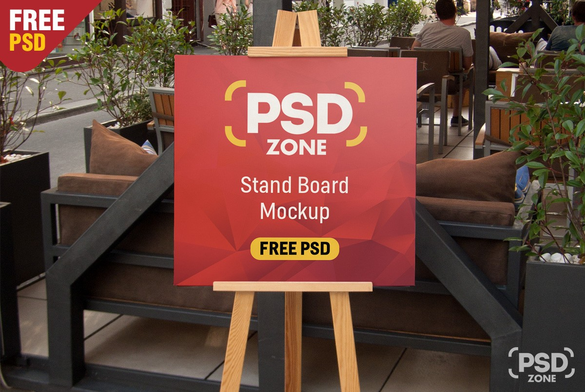 Mock Up Exhibition Stand Psd Free Download : Restaurant menu stand board mockup psd download