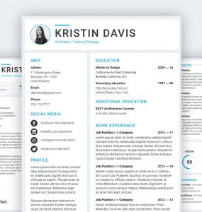Resume and Cover Letter Template PSD