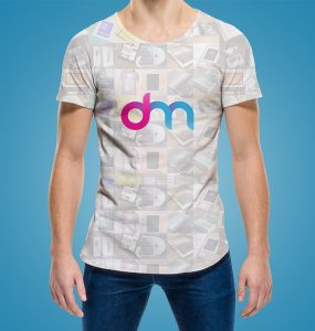 Rounded Neck T-Shirt Mockup Free PSD