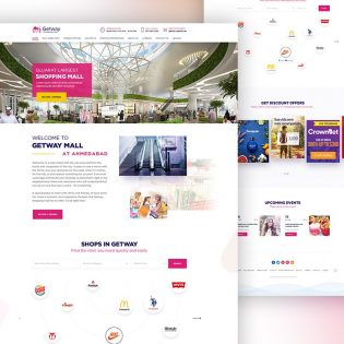 Shopping Mall Website Template PSD