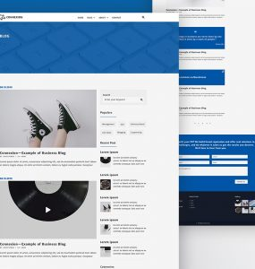 Simple Blog Website Template PSD