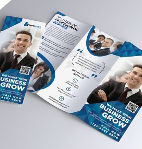 Tri-fold Corporate Brochure Template PSD