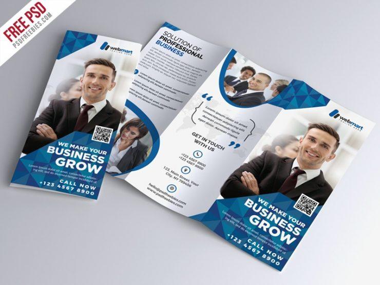 Tri-fold Corporate Brochure Template PSD