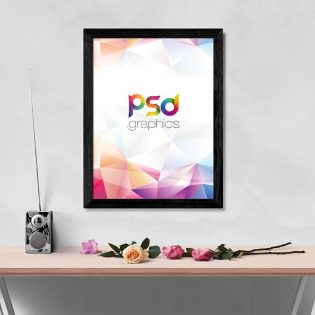 Wall Photo Frame Mockup PSD