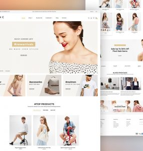 eCommerce Website Theme PSD Template