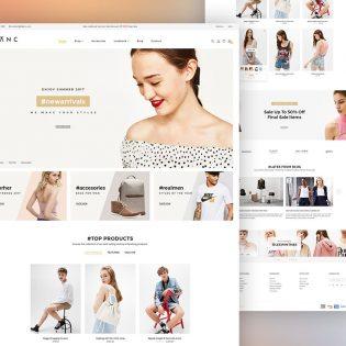 eCommerce Website Theme PSD Template