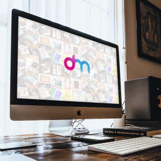 iMac in Home Office Mockup