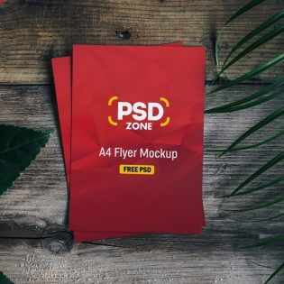 A4 Flyer Mockup Template PSD