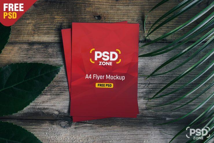 A4 Flyer Mockup Template PSD