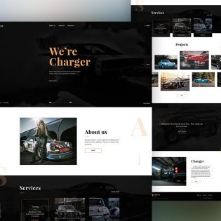 Automobile Website Template Free PSD