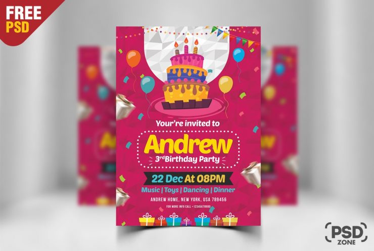 Birthday Flyer Template PSD