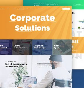 Corporate Website Free PSD Template