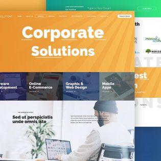 Corporate Website Free PSD Template