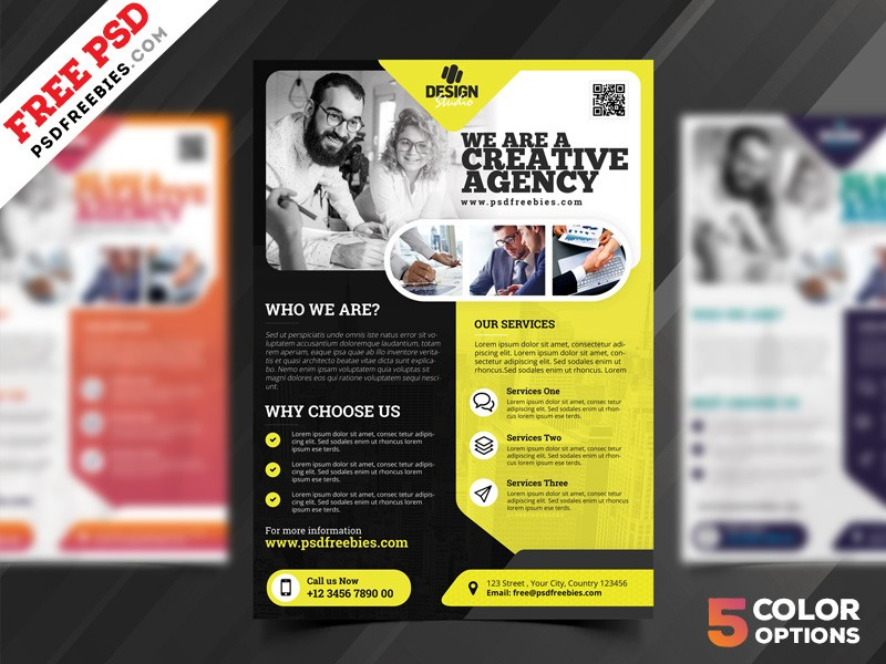 Creative Agency Flyer Template Psd Download Download Psd