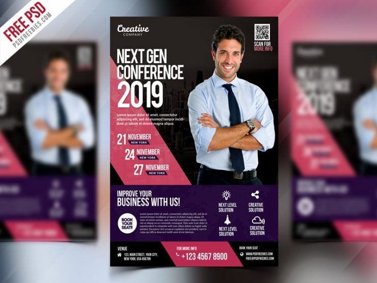 Free Business Event Flyer PSD
