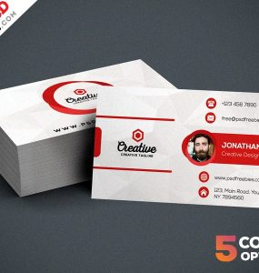 Free Creative Business Card Template PSD