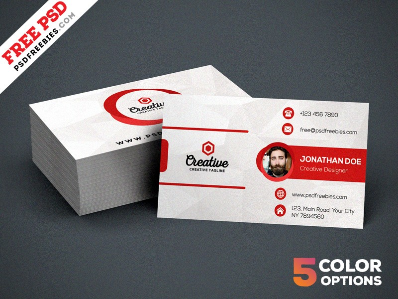 Free Creative Business Card Template PSD Download - Download PSD