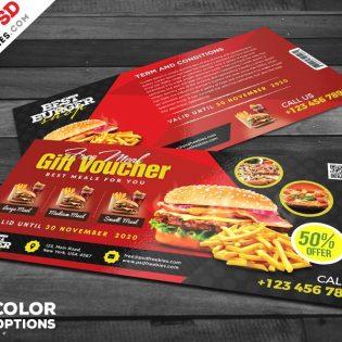 Free Restaurant Gift Voucher PSD
