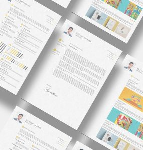 Free Resume Set Template PSD