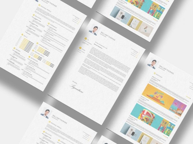 Download Free Resume Templates Psd  Download Psd