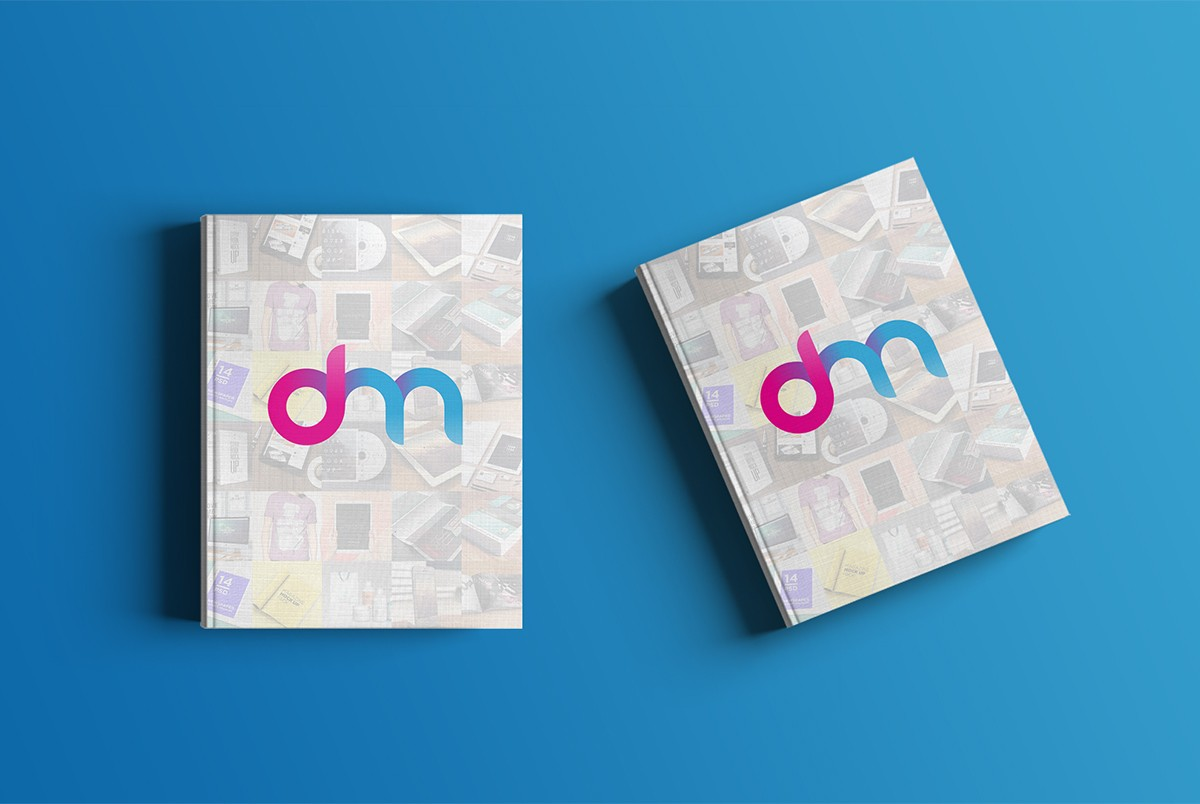 Hardcover Book Cover Template ~ Hardcover book mockup psd template download