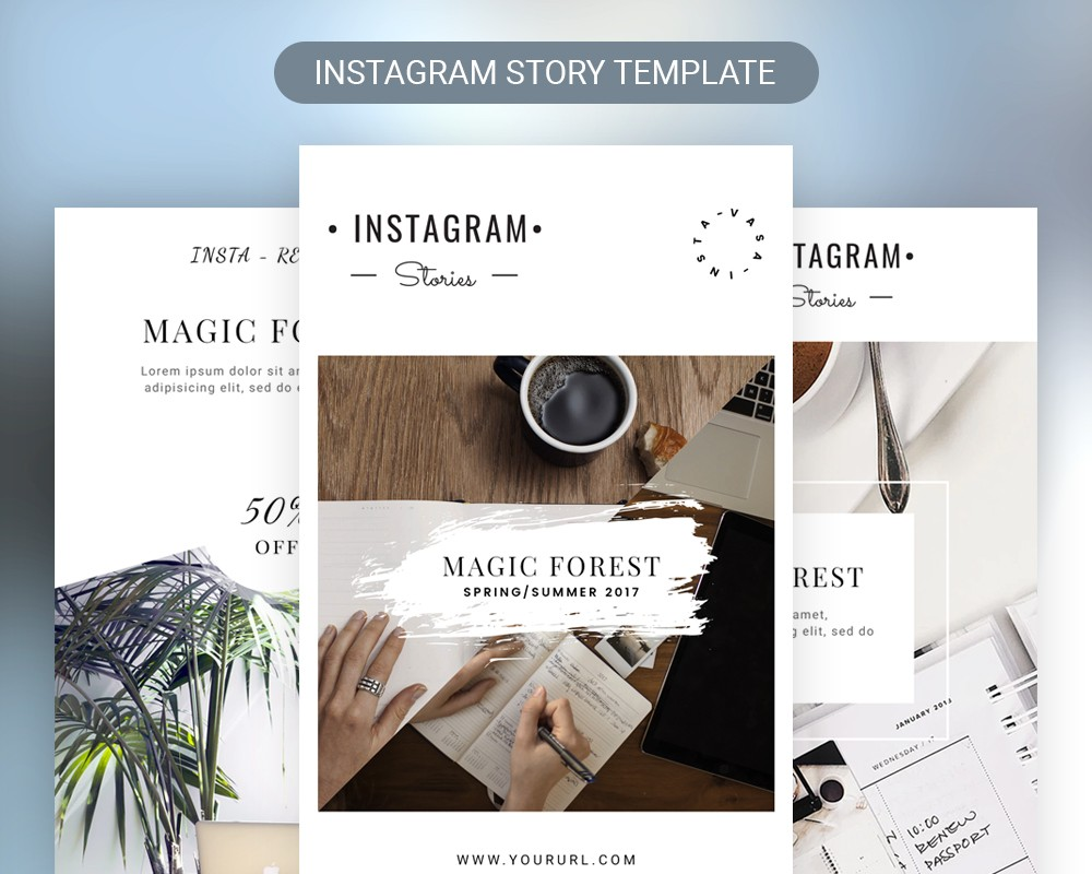 instagram stories template free psd