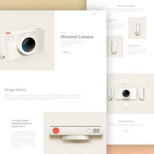 Minimalist Product Landing Page Template PSD