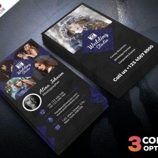Photographer Business Card Template PSD