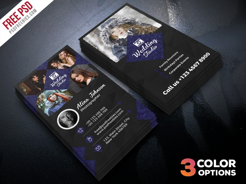 Photographer Business Card Template PSD Download - Download PSD