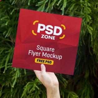 Square Flyer Mockup PSD