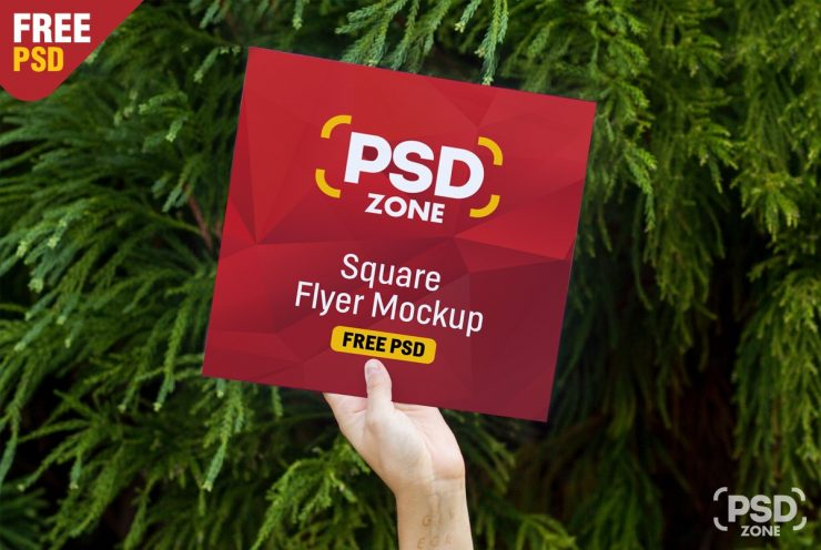 Square Flyer Mockup PSD