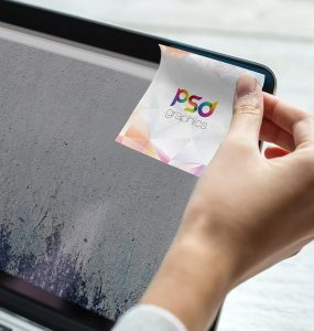 Sticky Post-it Note Mockup PSD