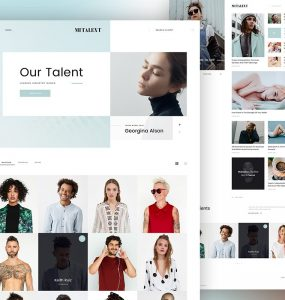 Talent Agency Website Template PSD