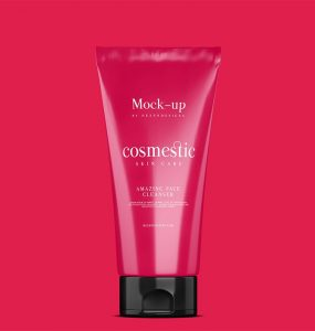 Cosmetic Tube Packaging Mockup PSD