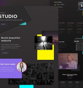 Creative Studio Website Template Free PSD