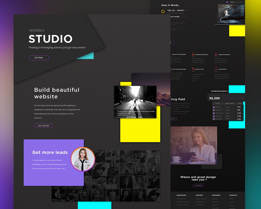 Creative Studio Website Template Free PSD Download - Download PSD
